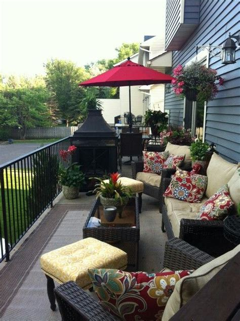decorate for townhouse deck creating two spaces summer deck