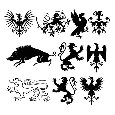 animal heraldic design elements craftsmanspace