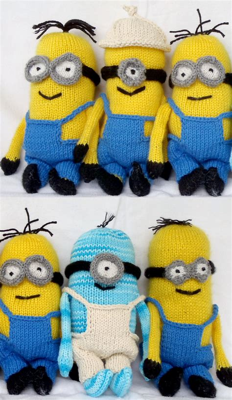 knitting pattern minion despicable me minions and despicable me knitting patterns in the loop