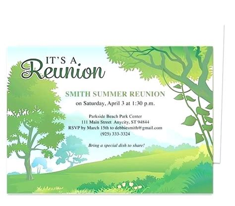 Free Family Reunion Invitation Letter