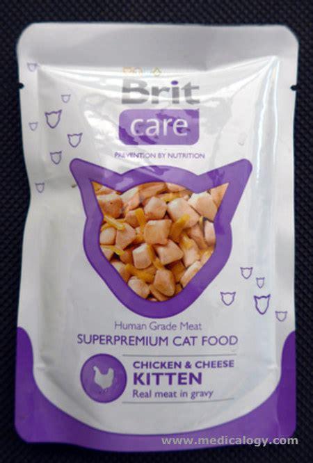Makanan Kucing Premium Brit Care For Sterilised Cat jual brit care premium cat food chicken cheese kitten 80 g murah