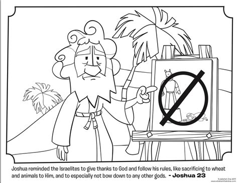 joshua coloring pages bible joshua bible coloring pages what s in the bible