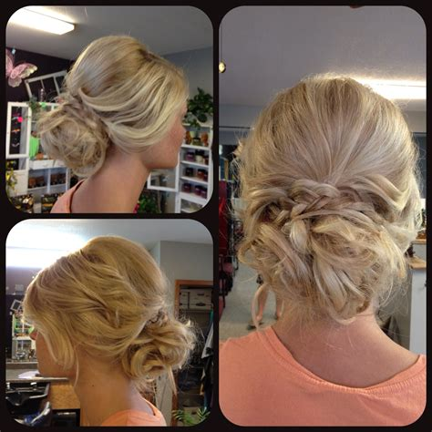 formal hairstyles bun curls prom updo upstyle loose messy curly curled braid blonde