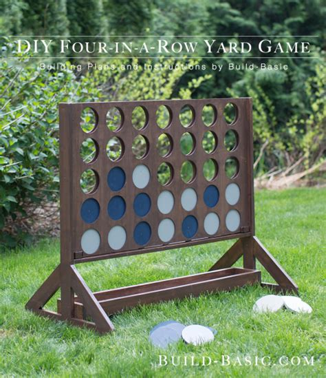 backyard games build a diy four in a row yard game build basic
