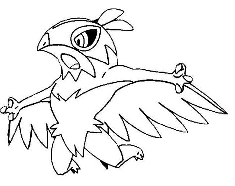 pokemon coloring pages hawlucha kleurplaat pokemonxandy hawlucha coloring http www