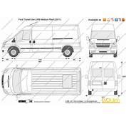 The Blueprintscom  Vector Drawing Ford Transit Van LWB