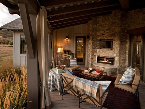 Outdoor Living Room With Fireplace | 20 cozy outdoor fireplaces hgtv