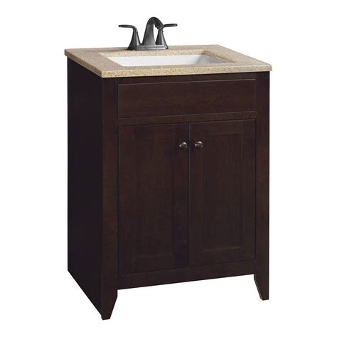 Glacier Bay Modular 24 1 2 In Vanity In Java With Solid Glacier Bay Bathroom Vanity