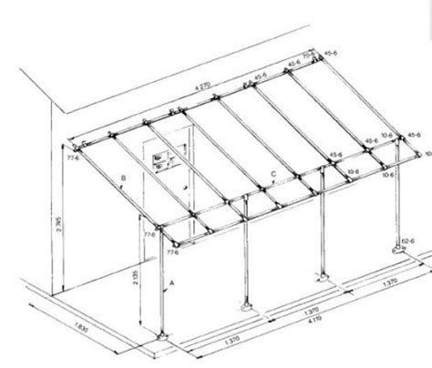 Build Your Own Awning Frame easy to build diy awning frame project sbc uk