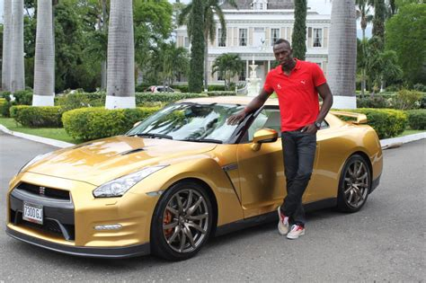 golden fast cars gold medals lead to golden nissan gt r for usain bolt