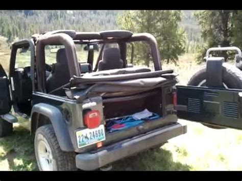 How To Remove Jeep Soft Top How To Take The Top On Your Soft Top Jeep Soft Top