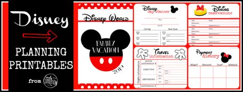 Galerry free printable disney planning pages