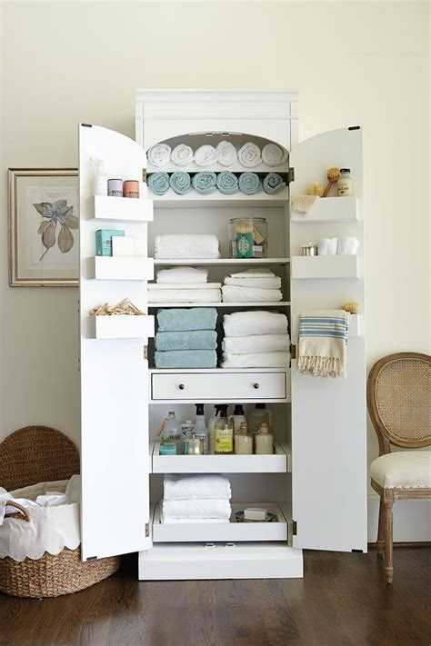 freestanding cabinet for craft amp linen storage linen