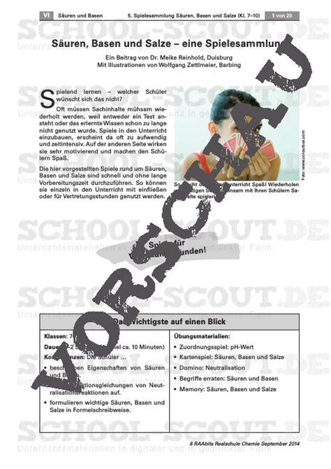 Säuren Im Haushalt 5171 by Ungew 246 Hnlich S 195 164 Ure Basen Und Salze Klasse 7 Arbeitsblatt