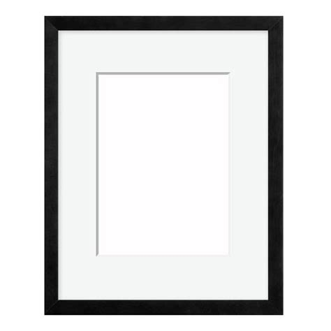 Black Picture Frames With White Matting | wood frame with mat and hardware 4ap black wood picture