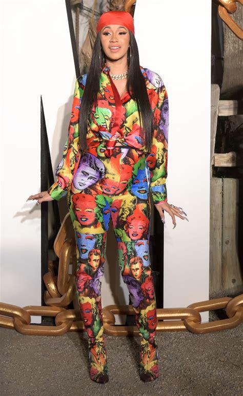 Gcardi Marlyn who wore it better cardi b and keyshia ka oir in versace marilyn printed top and
