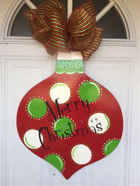 christmas ornament door hanger christmas door hanger