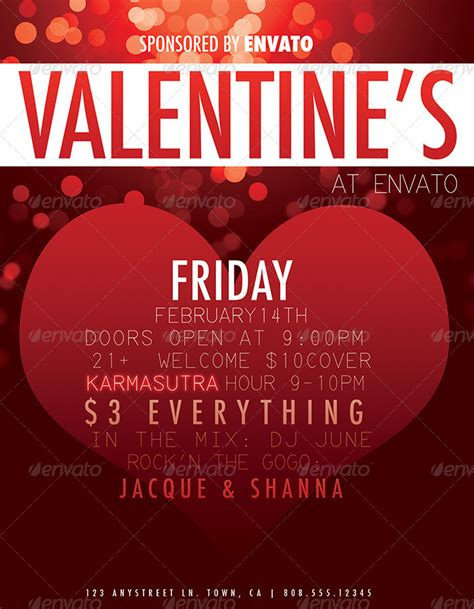 valentines day events s day event flyer by juryk graphicriver