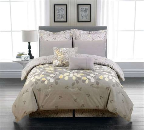 Grey And Yellow Bedding Sets Duck River Textile Eliana Leaves Yellow Grey 6pc Oversized Comforter Set 84 99 Yellow Grey