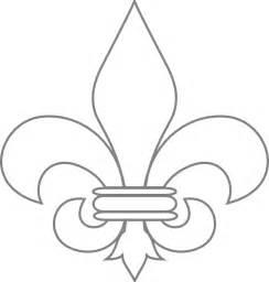 fleur de lis template free coloring pages of saints fleur de lis