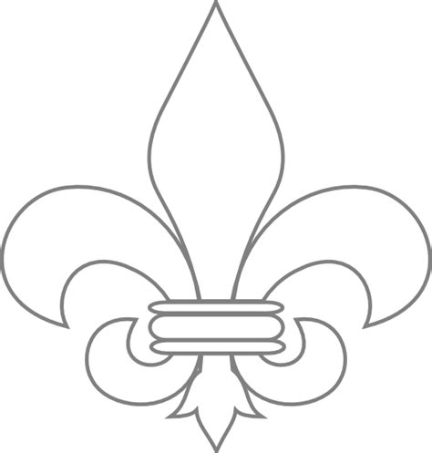 free coloring pages of saints fleur de lis