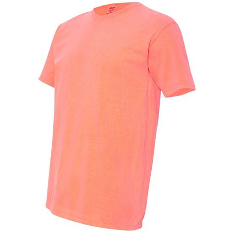 comfort colors neon red orange comfort colors 1717 garment dyed heavyweight ringspun