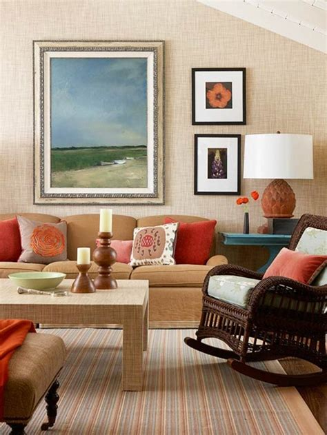 decorating with orange accents for fall bhg centsational style