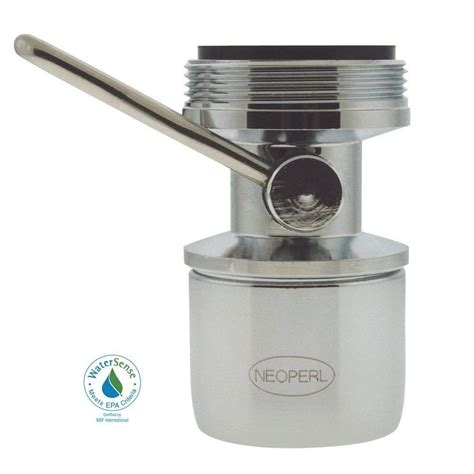 Water Faucet Aerator neoperl 0 5 gpm dual thread water saving pca spray faucet aerator 97206 05 the home depot