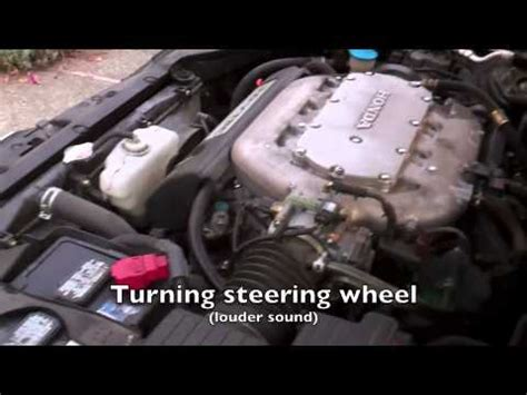 2004 honda accord power steering problem youtube