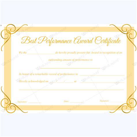 best employee award certificate templates best performance award certificate template for employee