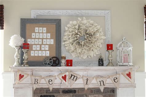 beautiful valentines day mantel ideas  mommy style