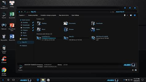 themes for windows 10 64 bit windows 10 pro 64 bit version 1607 build 14393 0 with