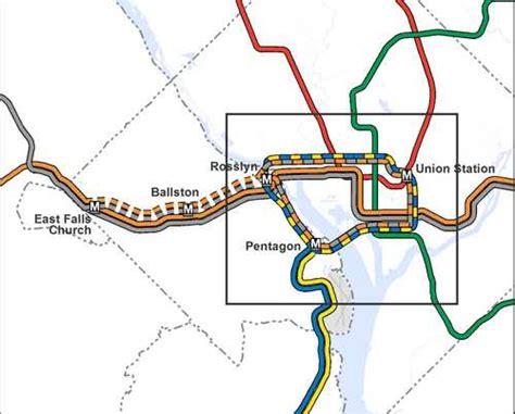 washington dc loop map metro maps out loop line between dc and arlington greater greater washington
