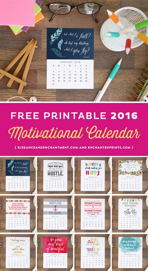 printable quotes for desk free printable 2016 calendar