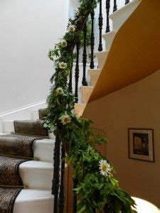 garland for stair banister view from the front door in at cleatham hall cleatham hall pinterest front doors