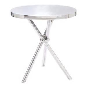 Aluminum Accent Table Woodland Imports 27520 The Great Aluminum Accent Table Homeclick