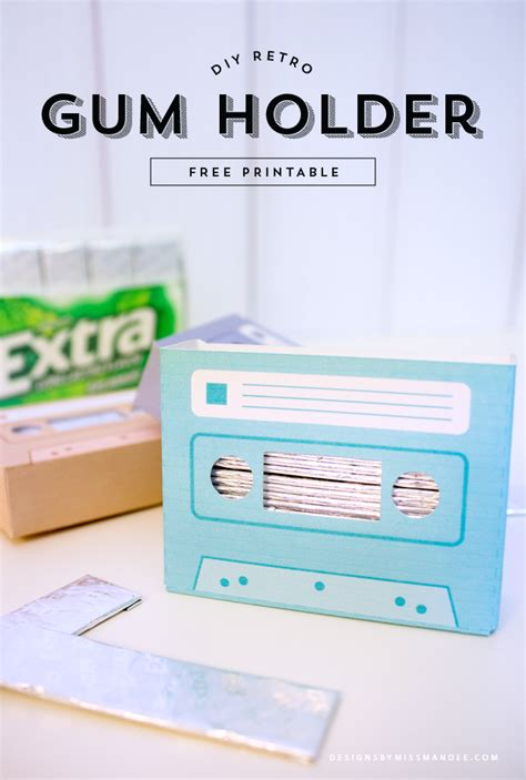 Cassette Wallets Because We All Miss The 90s Sometimes by Diy Retro Gum Holder Designs By Miss Mandee