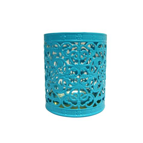 Decorative Candle Holders Decorative Cup Candle Holder Turquoise