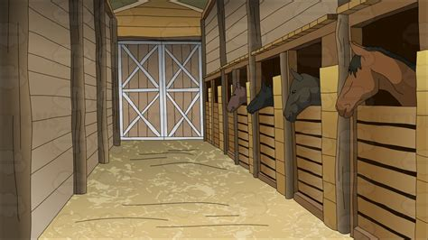 stables background clipart vector