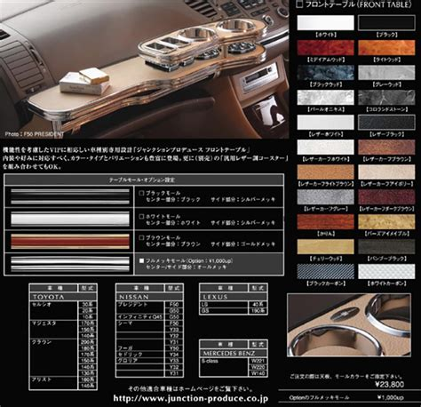 junction produce table junction produce interior table lexus nissan infiniti