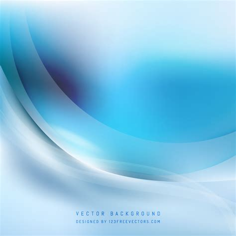 blue wave lights abstract light blue wave background 123freevectors