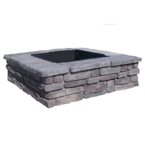 pit stones home depot fossill random gray square pit rgsfp