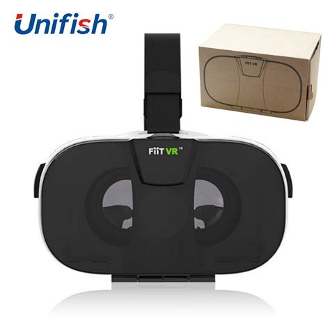 Vr Cardboard Third Generation Leather Mount 3d Reality aliexpress buy 100 original fiit vr 3d reality glasses helmet cardboard vr