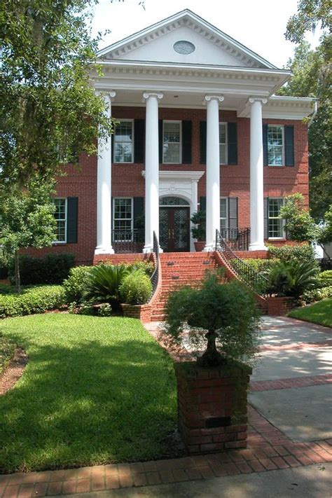 house with columns brick columns for formal home entry google search