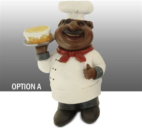 Black Chef Kitchen Decor by Black Chef Kitchen Statue Table Decor Option A