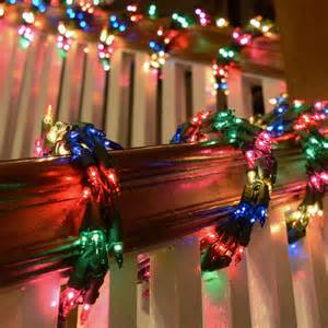 600 multi color cluster garland light set green wire