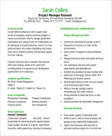 Sle Basic Functional Resume Functional Resume Sle Project Management 28 Images
