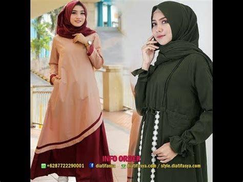Dress Baju Harian baju muslim casual untuk harian hijaber model dress gamis