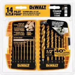 dewalt drill set home depot dewalt titanium pilot point drill bit set 14