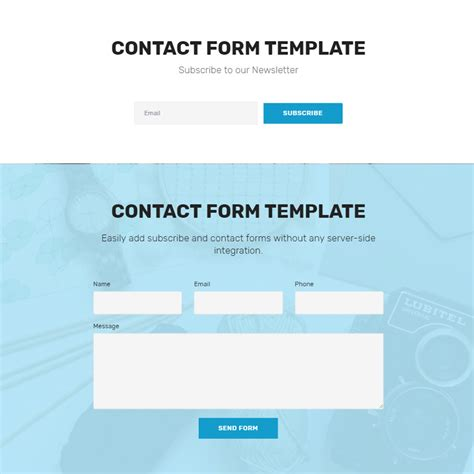 contact form template free bootstrap 4 template 2018